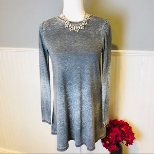Topshop gray marled open back tunic /dress